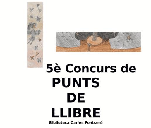 5è Concurs de punts de llibre - biblioteca Carles Fontserè de Porqueres
